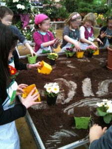 le jardin à l'école