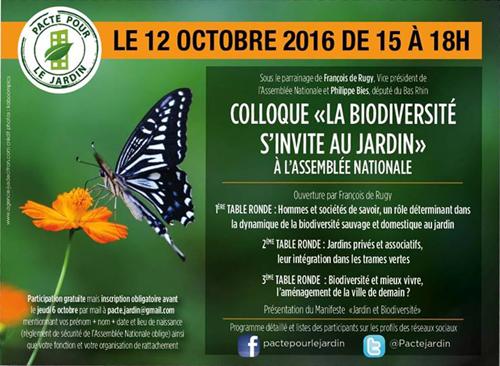 """colloque """"la biodiversité s'invite au jardin"""""""