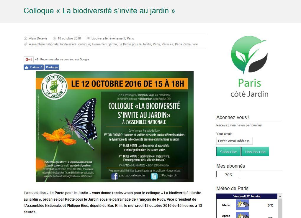 colloque la biodiversité s'invite au jardin