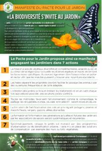 Manifeste biodiversité au jardin