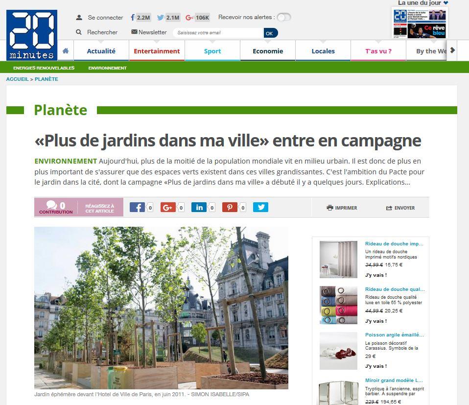 «Plus de jardins dans ma ville» entre en campagne