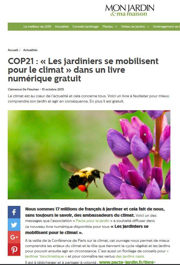 cop21 les jardiniers se mobilisent pour le climat