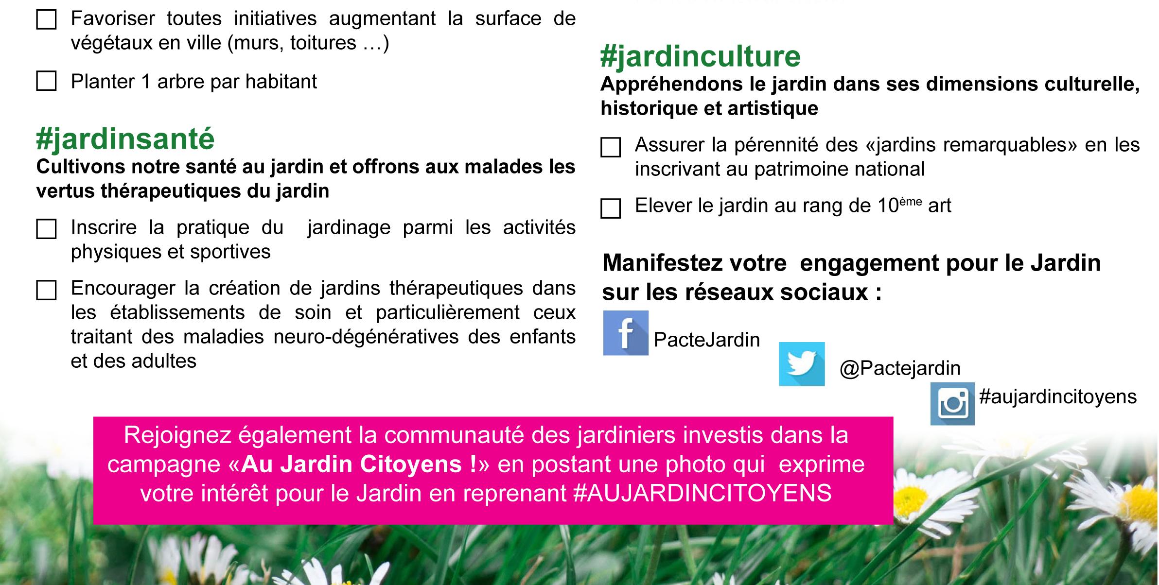 Questionnaire pacte jardin